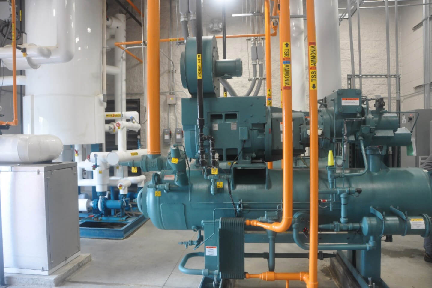 New Ammonia Refrigeration System Vegetable Processing Facility